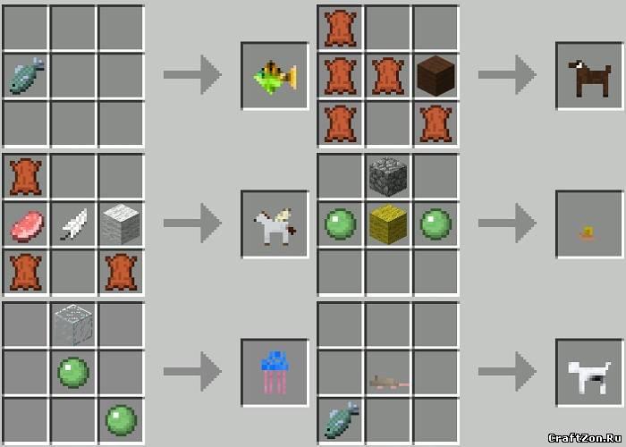 Мод Сковать Животные v2.0.3 в minecraft 1.4.6 Craftable Animals v2.0.3 1.4.6 - Моды Minecraft 1.4.6