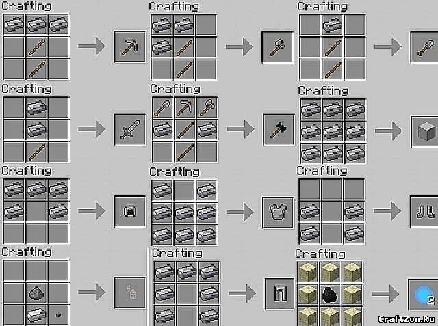 Всеы вещей в minecraft