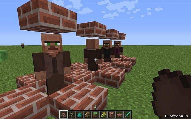 Как в minecraft сделать жителей 8
