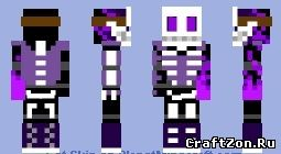 майнкрафт скин фиолетового парня #3